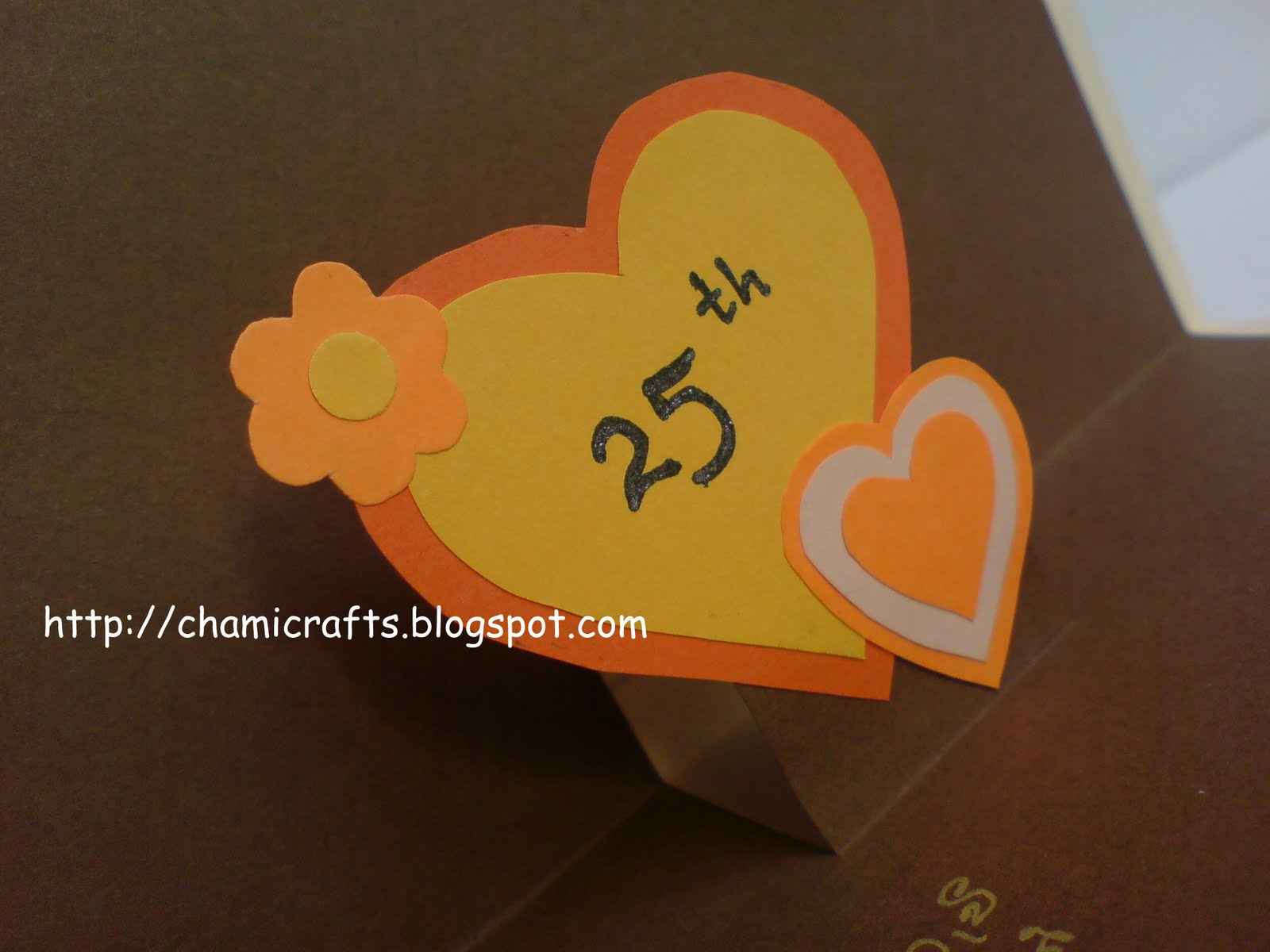 Card Making Ideas For 25th Anniversary Part - 39: Chami Crafts - Handmade Greeting Cards: Wedding Anniversary Card With  Pop-up!!!