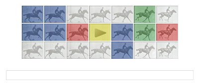 Eadweard J. Muybridge at Google Doodle - Eadweard J. Muybridge's 182nd Birthday