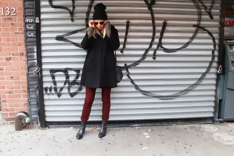 Street Style black burgundy oxblood Alexander Wang Anouck boots