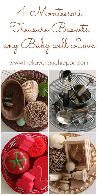 baby school, nature, montessori for baby, treasure basket