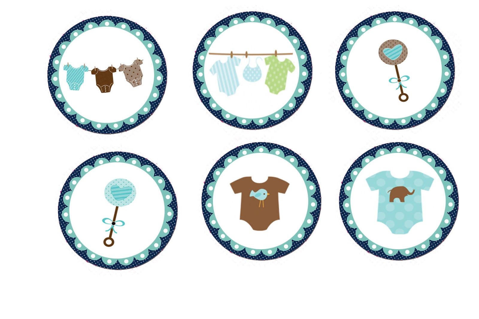 Baby shower cakes boy baby shower cupcakes toppers for Baby shower decoration templates