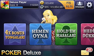 Screenshots of the Texas HoldEm Poker Deluxe for Android tablet, phone.