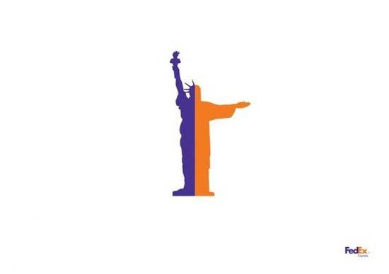 anúncios minimalistas e criativos na internet - FedEx