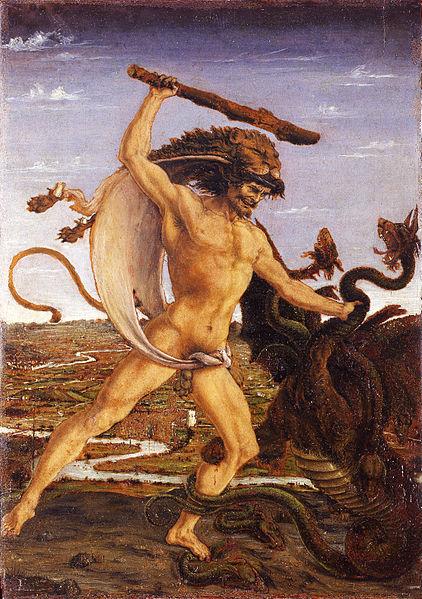 Hércules y la Hidra, por Antonio Pollaiuolo.