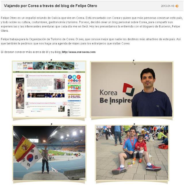 Entrevista a Felipe de Eurowon en KBS World Radio