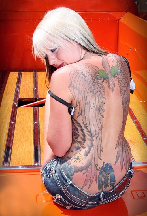 Angel Tattoo Meaning There have been some forms of women or girl angels in