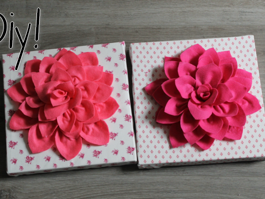 DIY | Canvas bloem.