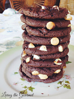 Chocolate Fudge Cookies from Living the Gourmet