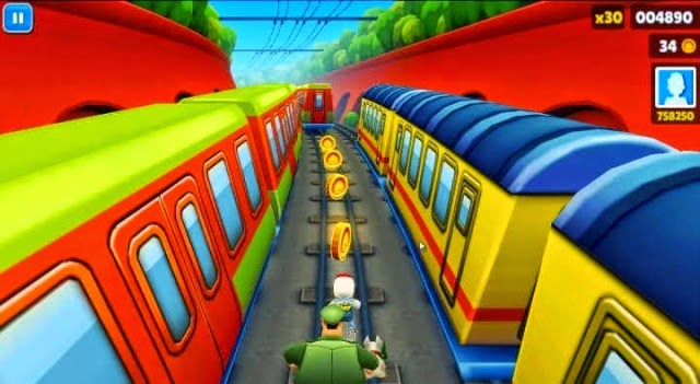 Playing Subway Surfers PC Games