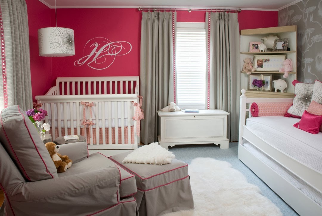 feminine color and it offers calming effects painting your baby girls