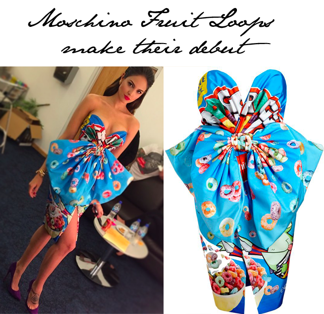 Moschino's Fruit Loop dress  Eiza Gonzalez
