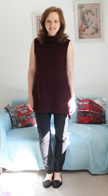 Primark Autumn Winter Haul Polo Neck Burgundy Jumper 2015