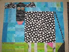 Cow quilt beginning&#39;s- It took two hours to put this together-the background strata took longer