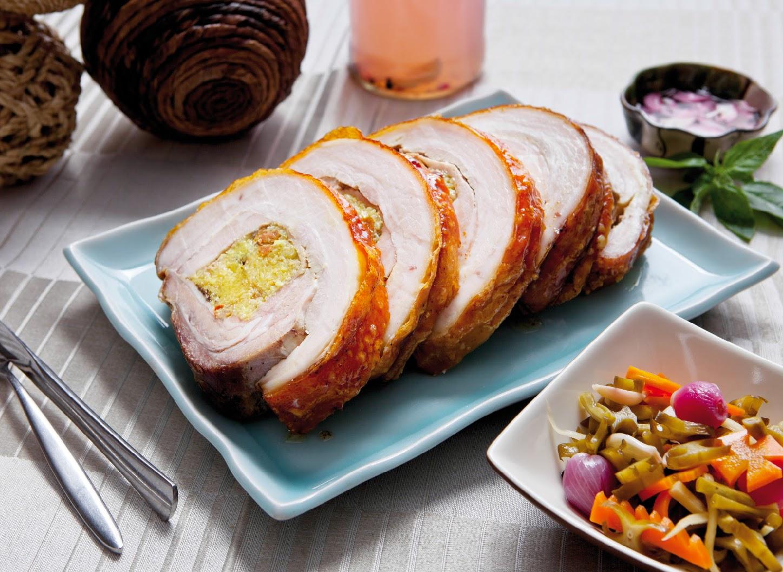 Stuffed Pork Belly with Arroz Valenciana of F1 Hotel Manila