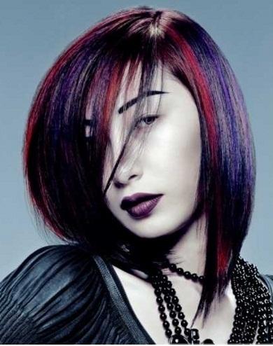 Gorgeous Purple Hair Highlights 2014