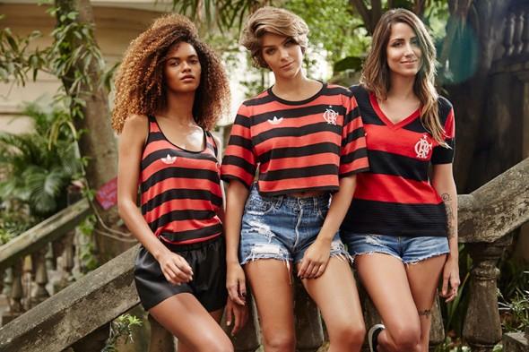 coleção Flamengo retrô Farm e Adidas Originals