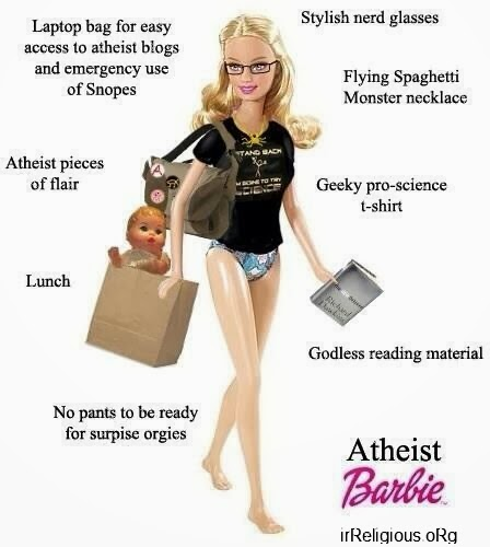 Funny Atheist Barbie Doll Joke Picture