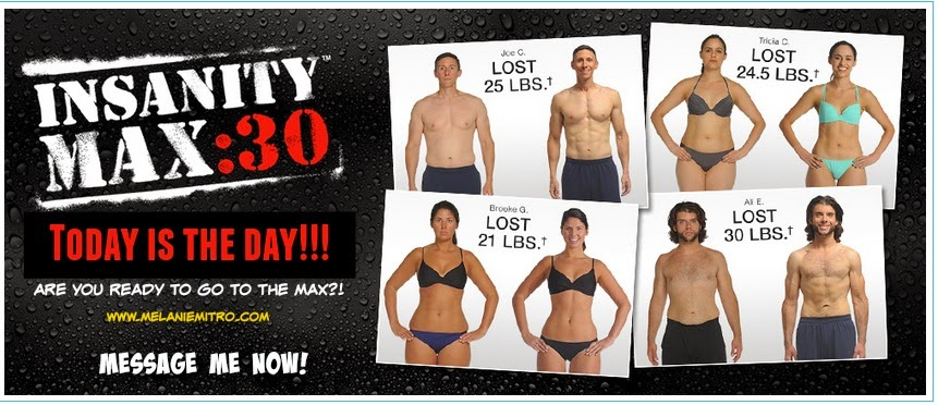 Insanity Max30, Available Now, Insanity Max 30 images, Melanie Mitro