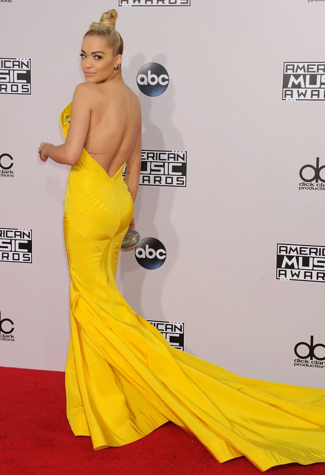 Rita Ora Red Carpet Photos - 2014 American Music Awards