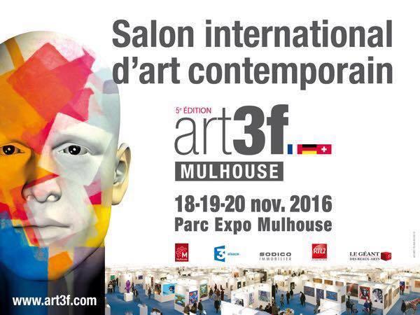 MULHOUSE : CAPTON EXPOSE À ART3F DU 18 AU 20 NOVEMBRE 2016