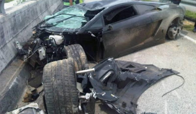 Lamborghini Gallardo LP560-4 - Car Crash in Subang Malaysia 1