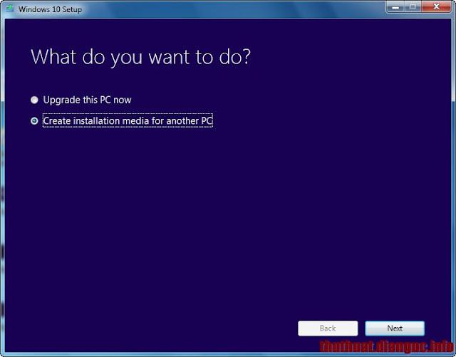 công cụ MediaCreationTool