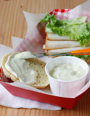 Yes, this mayonnaise is egg-free, dairy-free, gluten-free, soy-free. Made with flax seeds, it's better than the original! Flaxseed Mayonnaise from The Allergy-Free Pantry.