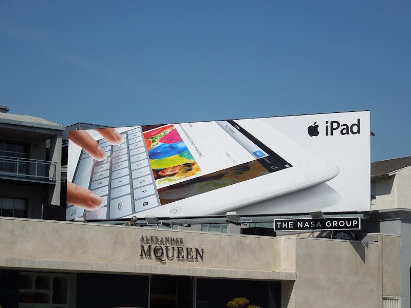 Apple iPad keyboard 2012 billboard