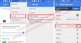 setting google translate offline