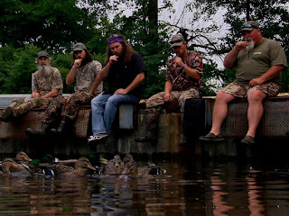 to Mandy: Duck and cover! Duck Dynasty is full of redneck humor