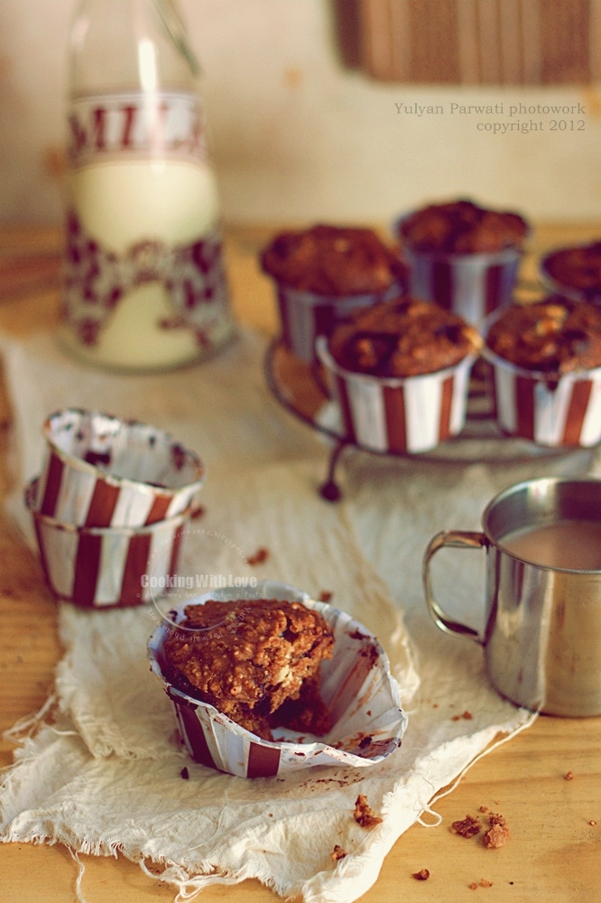 cooking with love double chocolate oatmeal muffin
