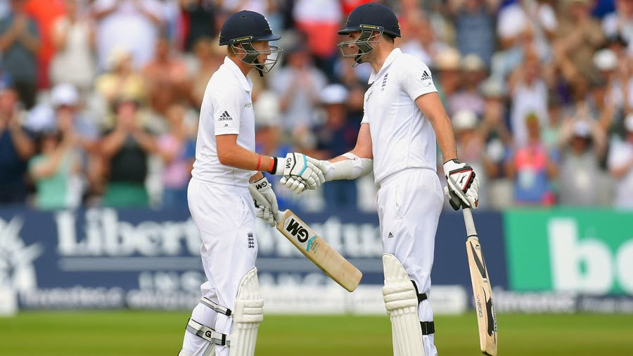 Joe-Root-James-Anderson-England-v-India-1st-Investec-Test