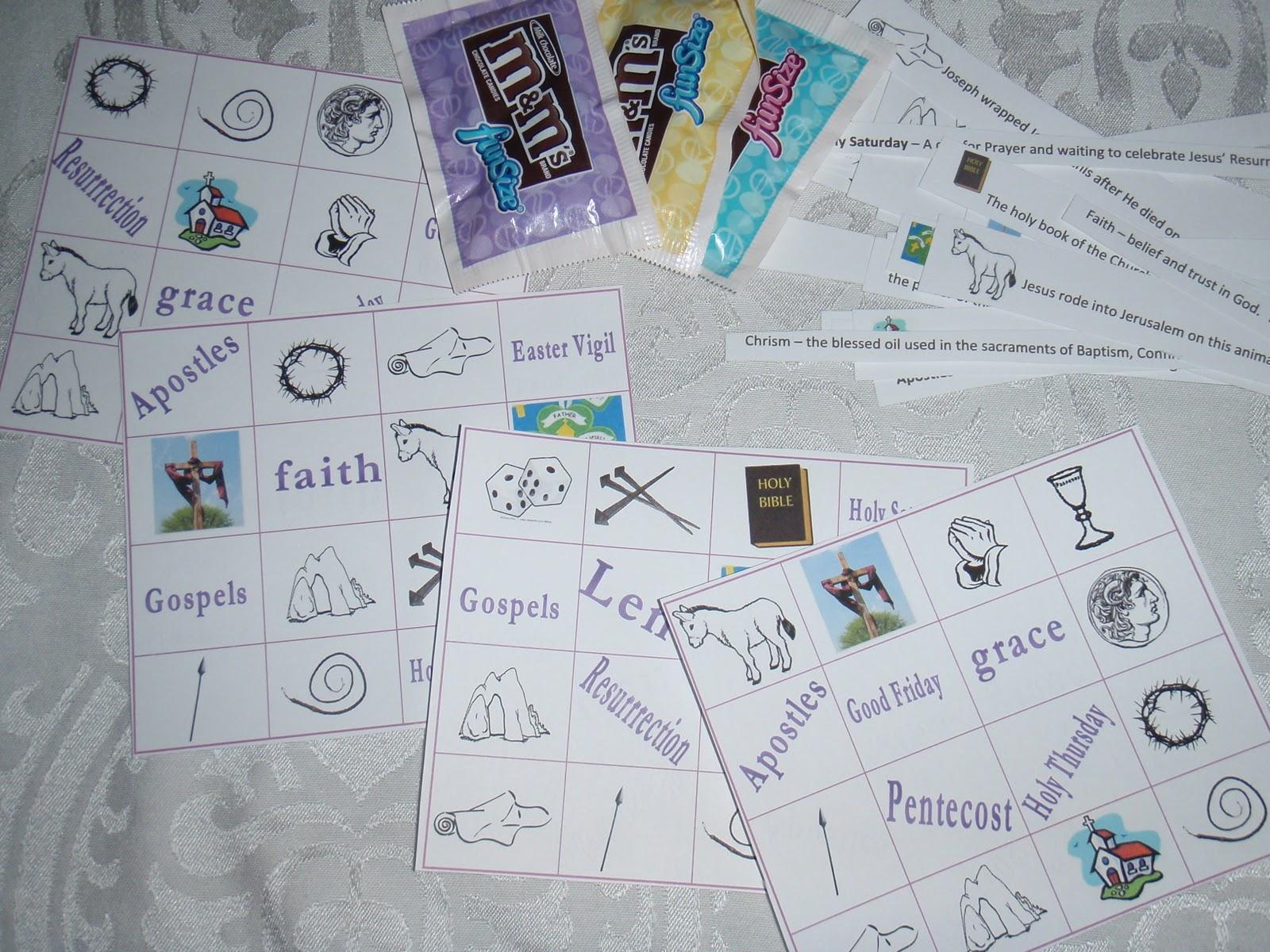Catholic Easter Bingo Printable For Grades 2-4 - Teaching Heart Blog ...