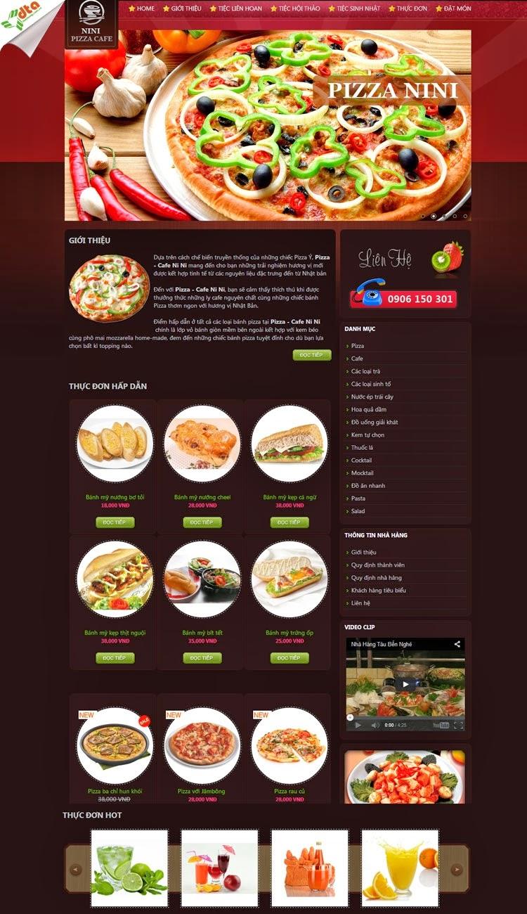 Thiết kế website bán hàng bánh pizza