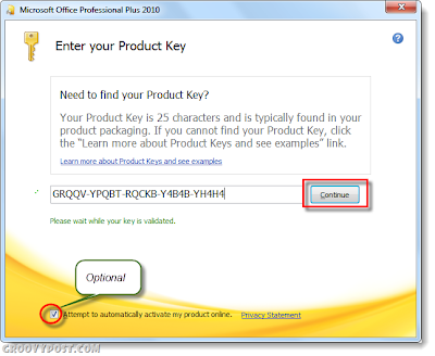 how to change office 2013 product key