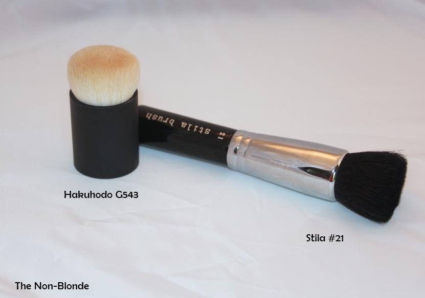 Natural Hair Flat Top Powder Foundation Brush