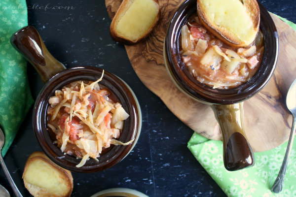 Irish Cabbage & Bacon Soup w/ Blarney Castle Sourdough Toasts