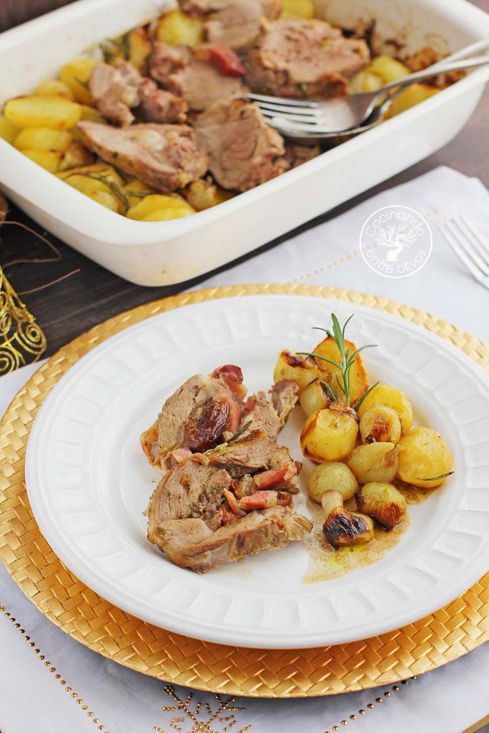 Cocinando entre olivos pierna de cordero rellena al horno for Cocinando entre olivos navidad