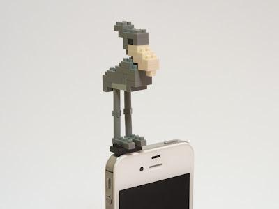 ナノブロックで作ったハシビロコウをPLUG APLIにつけてみた