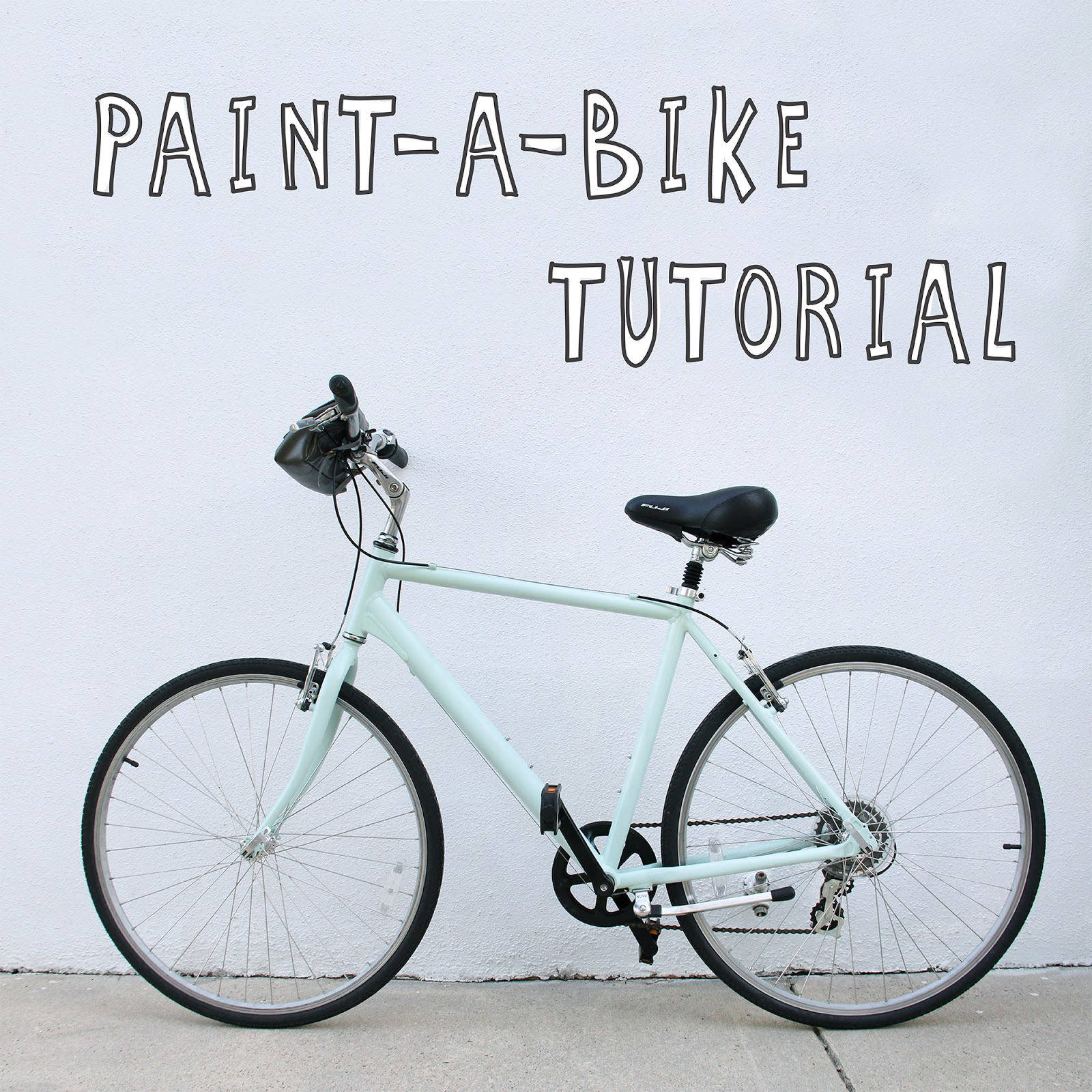 paint a bike tutorial. Black Bedroom Furniture Sets. Home Design Ideas