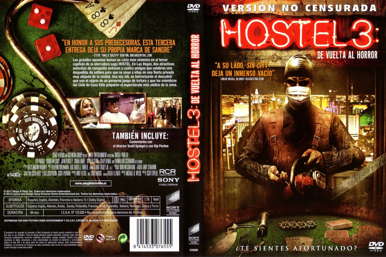 Hostel 3 De Vuelta Al Horror DVD