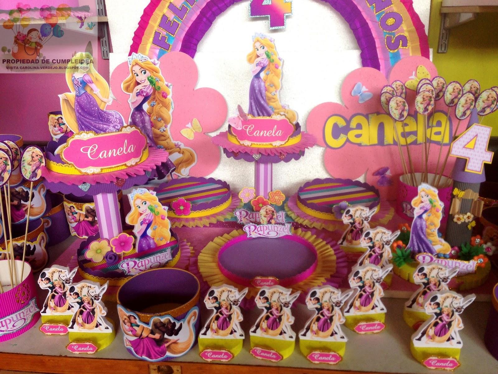 Decoracion de rapunzel para cumplea os for Decoracion tartas infantiles