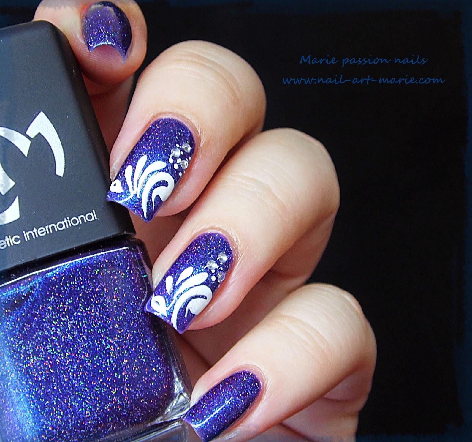 Nail Art gouttes sur Magie (G)6