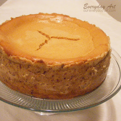 Everyday Art: Pumpkin Cheesecake with Maple-Pecan ...