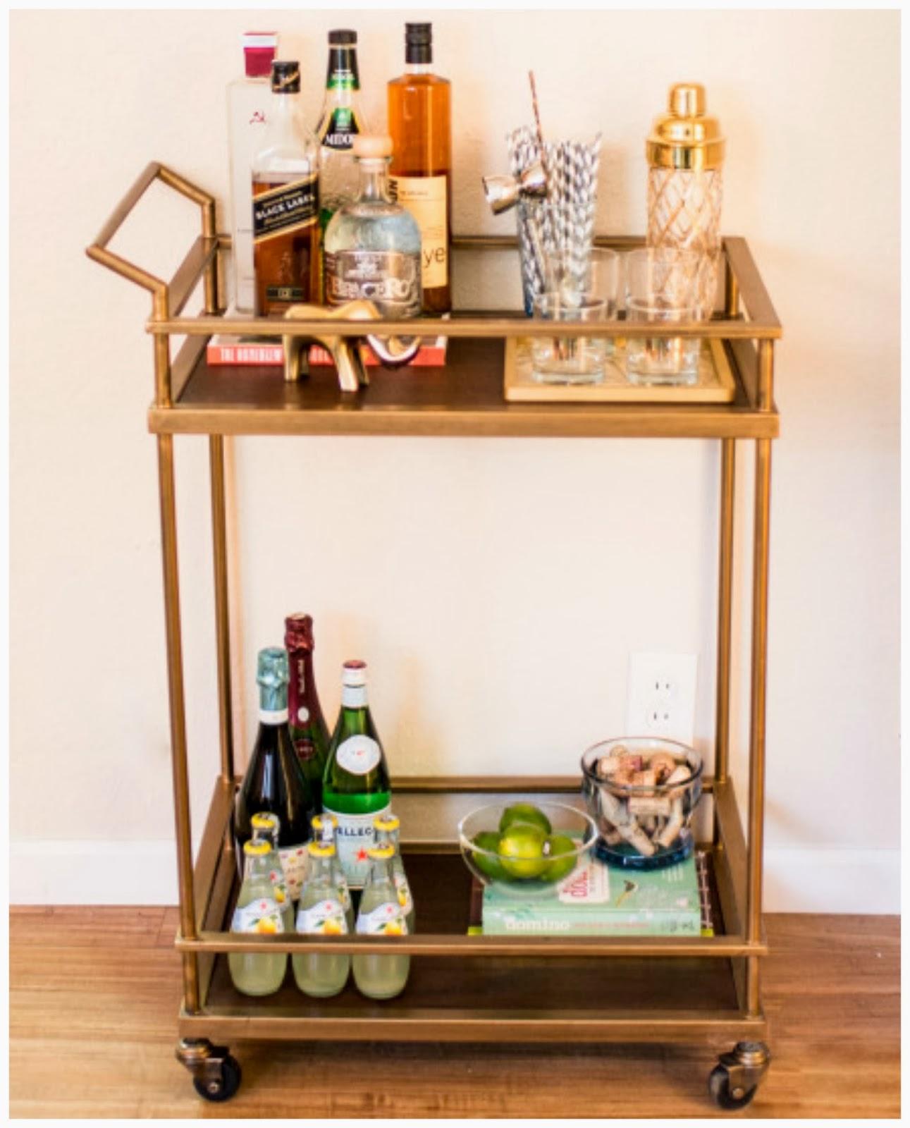 rosa beltran design friday find affordable brass bar cart. Black Bedroom Furniture Sets. Home Design Ideas