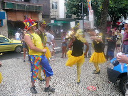"""The Bees,"" street performing near Ipanema Beach, Rio de Janeiro"