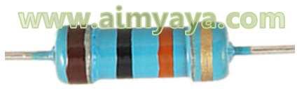 Gambar: Contoh Resistor 4 warna