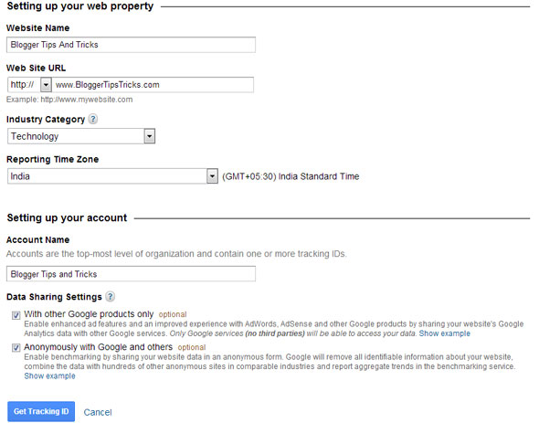 Setting Up Your Web Property