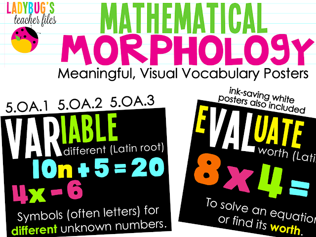 http://www.teacherspayteachers.com/Product/Mathematical-Morphology-Posters-5OA1-5OA2-5OA3-992838