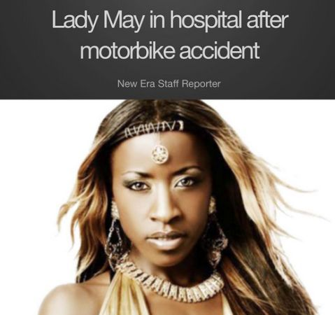 Big Brother hosue mate Lady May in bike accident,lady May accident,Lady May